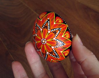 Traditional Ukrainian Easter egg.Hand painted Easter eggs.Pysanka.Ukrainian real Easter eggs.Batic eggs.Chicken pysanka.Ukrainian egg.