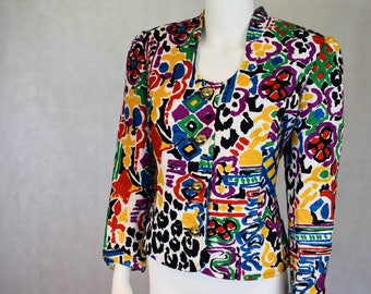 Vintage 80s Abstract Jacket