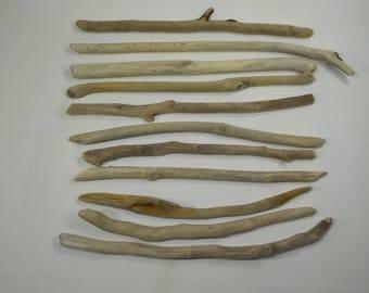 """11 Small Driftwood  30-38cm /11.8-15"""", Quality Driftwood Sticks,  Beach Crafts Sticks #49S"""