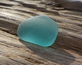 """Genuine Perfectly smoothed flawless Light blue  Sea Glass piece-Size 0.8""""-Jewelry quality-Pendant size Sea Glass#J531#"""