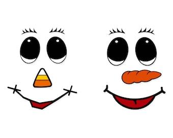 Snowman Faces Etsy