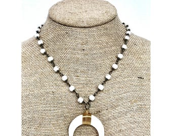 White Horn Necklace