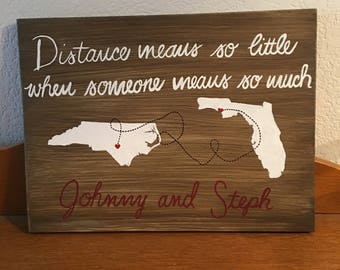 Long distance relationship sign
