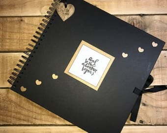 Handmade Personalised Adventure Scrapbook / Photo Album / Gift / Memory book.