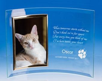 Cat Memorial Picture Frame, Pet Memorial Frame, Pet Loss Photo Frame, Pet Loss Gift, Loss of Cat Gift, Pet Memorial, Pet Sympathy Gift
