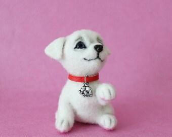 Needle felted dog, Miniature dog, Felted Dog, Animal miniature , Dollhouse miniatures ***READY TO SHIP***