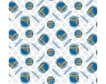 PREORDER **NBA Golden State Warriors Cotton Fabric by the yard