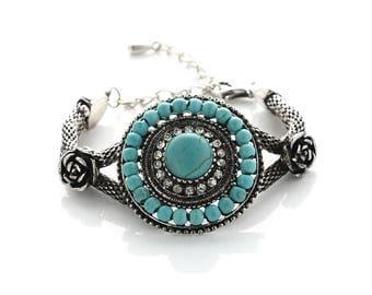 Antique  Turquoise  Blossom  Bracelet