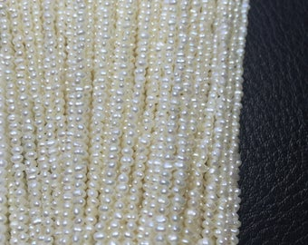 1.8-2mm small size pearls tiny size pearls baby size pearls freshwater pearls necklace and strand