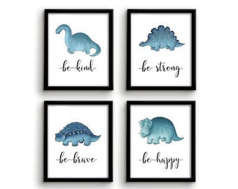 Dinosaur Nursery Art Dinosaur Prints Wall Art Baby Boy Bedroom Decor Nursery Art Dinosaur Art Dinosaur Nursery Print Dinosaur Bedroom Decor