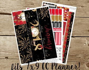 Monthly Kit: January 2018-- It's a New Year! (for use in Erin Condren Life Planner)