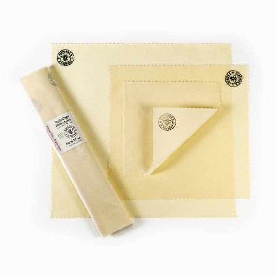 Organic Beeswax Food Wrap - Trio Pack