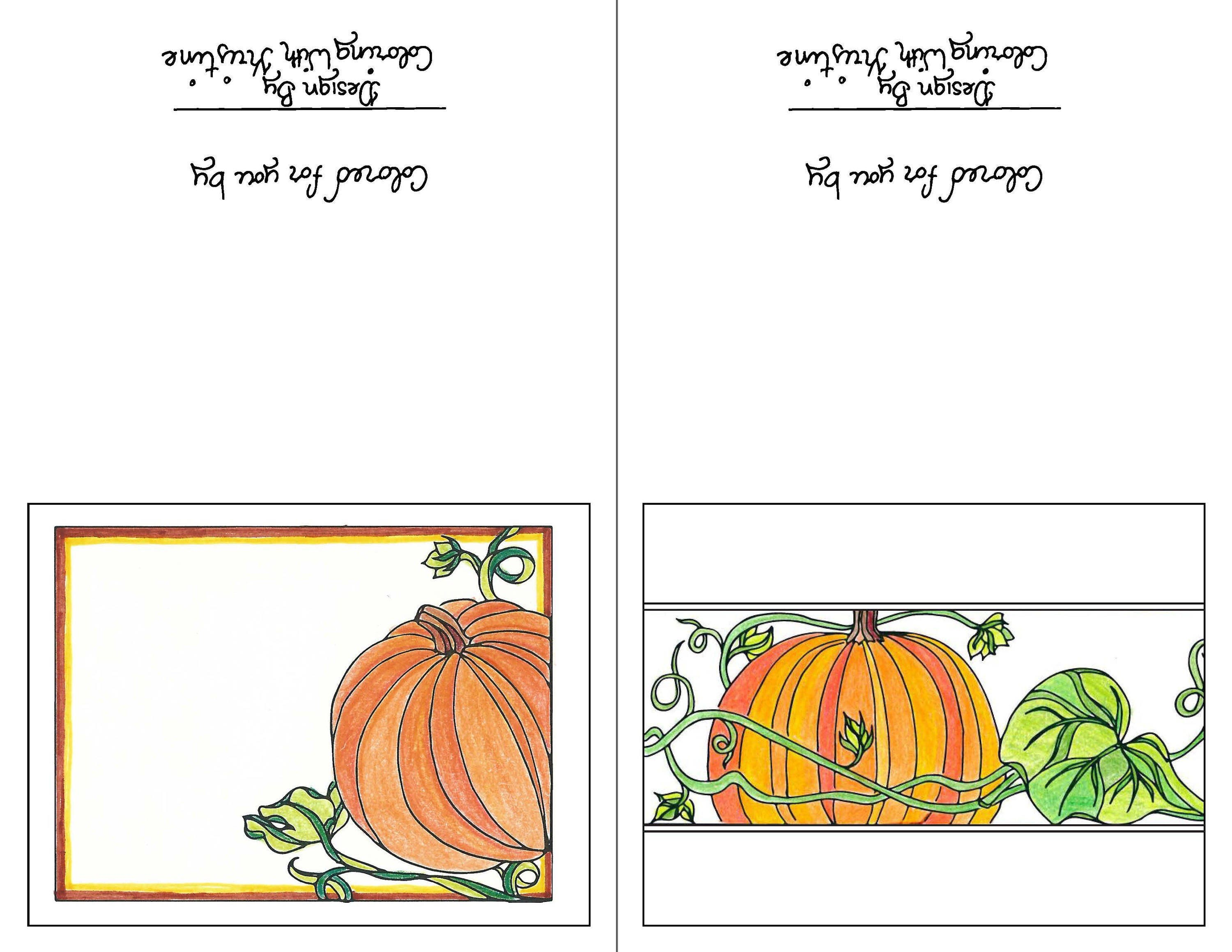Print Your Own Fall Greeting Cards Set Of Two Instant