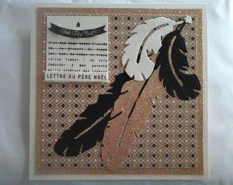 Christmas double 15x15cm for teen girl card