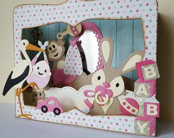 Card box theme baby girl