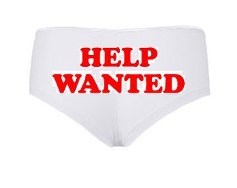 2 for 20! Glow in the Dark HELP WANTED boyshorts with arrow detail