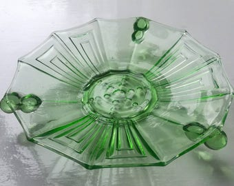 1930s uranium glass dish