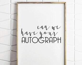 autograph sign, autograph poster, autograph decor, autograph download, autograph prints, wedding sign, table sign, table decor, wedding art