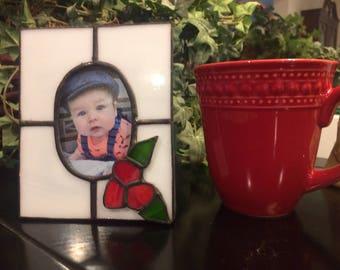Stained Glass Frame, Picture Frame, Custom Frame, Baby Shower Gift, Wedding Gift, Mother's Day Gift, Bridal Shower Gift, Pet Frame,Honey Dew