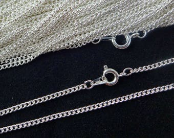 Sterling Silver Plated Necklace Curb Chain 24 Inch 4PC 10PC