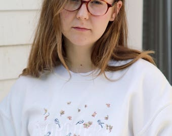 Vintage 90s Northern Reflections Cream Sweatshirt / Vintage Northern Reflections Sweater / Northern Getaway Sweatshirt / Size Medium