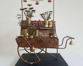 Curtis Jere Metal Flower Cart/Wagon