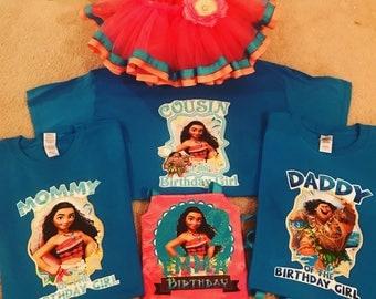 Moana Family Shirts