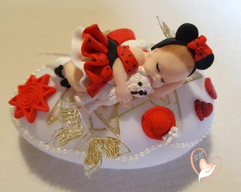 Nightlight Pebble bright mini baby with her bear - the heart of the arts