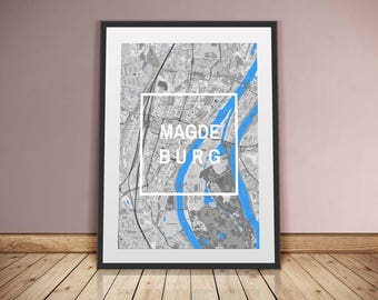 Magdeburg-framed City-digital printing