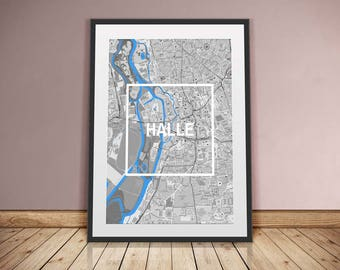 Hall-framed city-digital printing