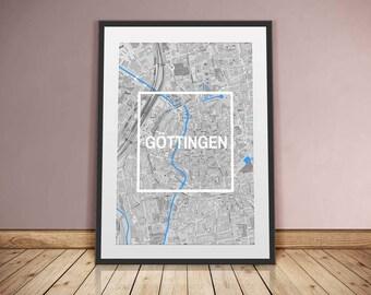 Göttingen-framed City-digital printing