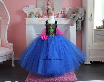 Robe de princesse, inspirée Anna Reine des Neiges