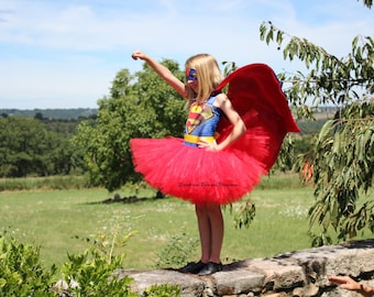 Superman Super, Super Hero costume inspired Tutu dress