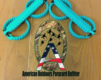 Teal/Turquoise Jeep Paracord Grab Handles (yj tj lj jk jku)