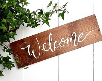 Wood Sign, Welcome Sign, Rustic Welcome Sign, Entry Sign, Rustic Home Decor, Rustic Decor, Gallery Wall, Housewarming Gift, Front Door Sign