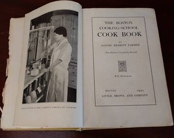 The Boston Cooking School Cookbook 1930 Fannie Merritt Farmer