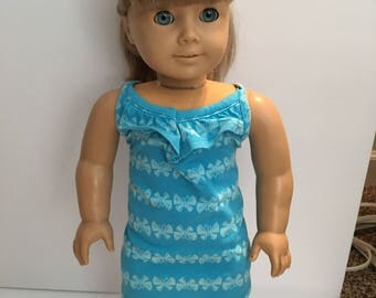 18 inch doll AG Teal blue sundress