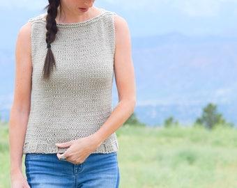Sweater Knitting Pattern, Sleeveless Sweater Knitting Pattern, Easy Knitting Pattern, Easy Knit Top Patter, Summer Knitting pattern, Classic