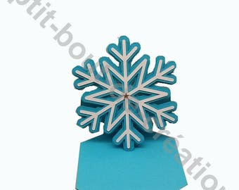 Original greetings card, get well card snowflake