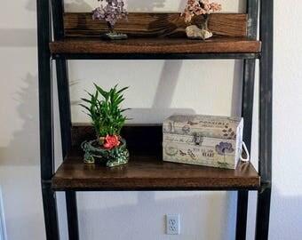 Rustic White Oak Shelf, Rustic Bookshelf