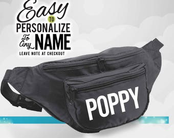 Poppy, fanny packs, poppy gift, family, neon fanny pack, birthday gift, personalized gift, birthday, gift, neon fanny pack, neon party, love