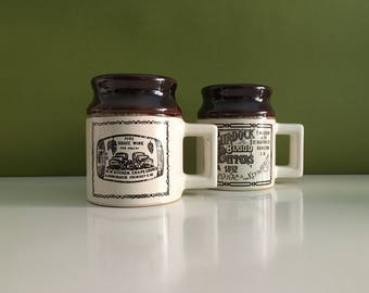 Vintage Beauceware Abenakis Pottery Mugs