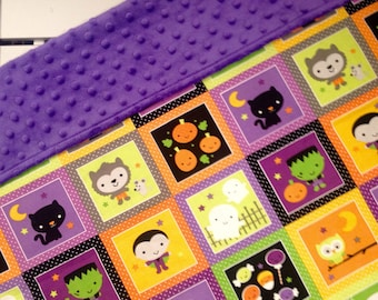 Halloween Blanket/Halloween Baby/Halloween Gifts/Halloween/Baby Blanket/Southern Sewn Designs/Baby/Ready to Ship/Blanket/Minky/Lovey