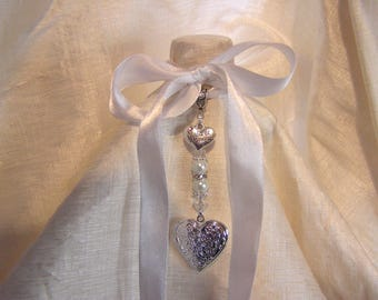 Maid of Honour Keepsake Confetti Locket Bridal Bouquet Charm