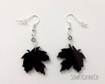Gothic Leaf Earrings