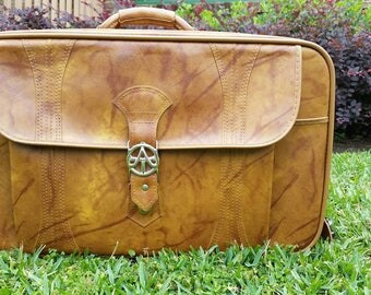 Vintage 1975 American Tourister Suitcase Luggage Travel Bag Flight Plane Case Vacation 70s Clothes Overnight Retro Jetset