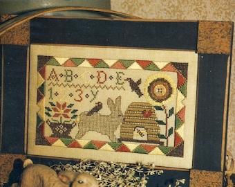 Summer Hare Sampler by Homespun Elegance Counted Cross Stitch Pattern/Chart