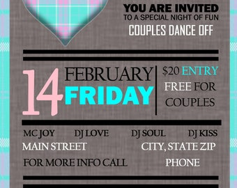 Customized Valentine's Party Invitation