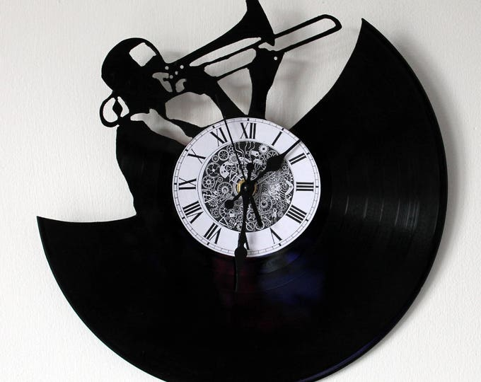 Vinyl 33 clock towers theme jazz trumpet