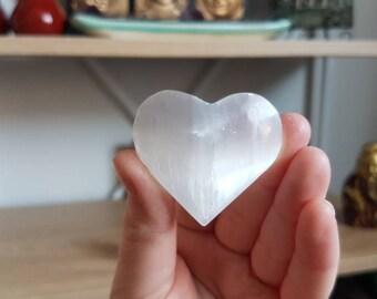 Reiki infused selenite heart //